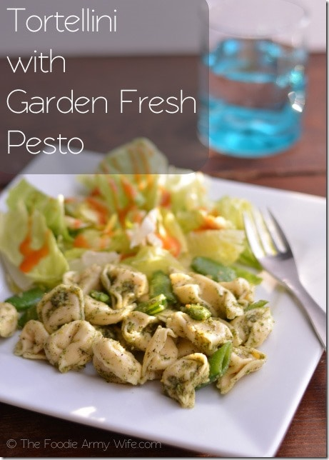 Tortellini with Garden Fresh Pesto from The Foodie Army Wife | #SundaySupper #ChooseDreams