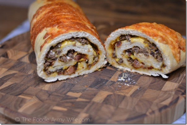 Bacon Cheeseburger Roll-up from The Foodie Army Wife | TheFoodieArmyWife.com