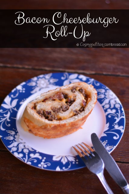 Bacon Cheeseburger Roll-Up from Cosmopolitan Cornbread