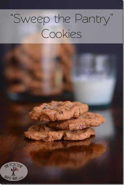 Sweep the Pantry Cookies from The Foodie Army Wife | Cosmopolitancornbread.com