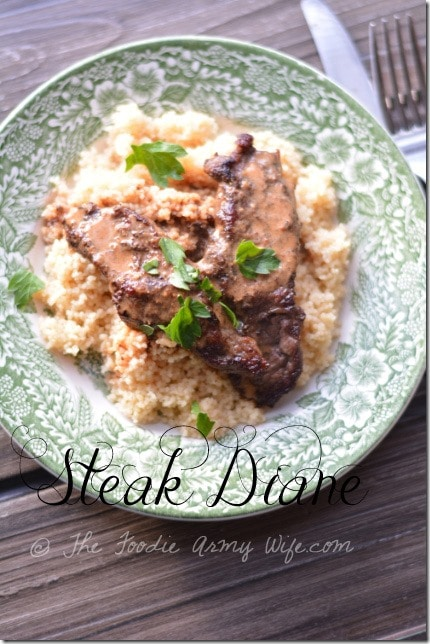 Steak Diane from The Foodie Army Wife | TheFoodieArmyWife.com
