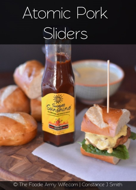 Atomic Pork Sliders with Mango Sauce