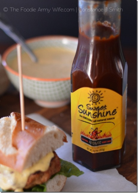 Atomic Pork Sliders with mango Sauce from The Foodie Army Wife | Cosmopolitancornbread.com
