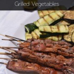 Beef Skewers with Grilled Vegetables | @SweetSunshineCT