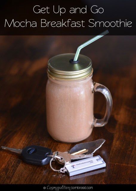 Get Up and Go Mocha Breakfast Smoothie - get your healthy breakfast and your coffee in one! Get the recipe from Cosmopolitan Cornbread