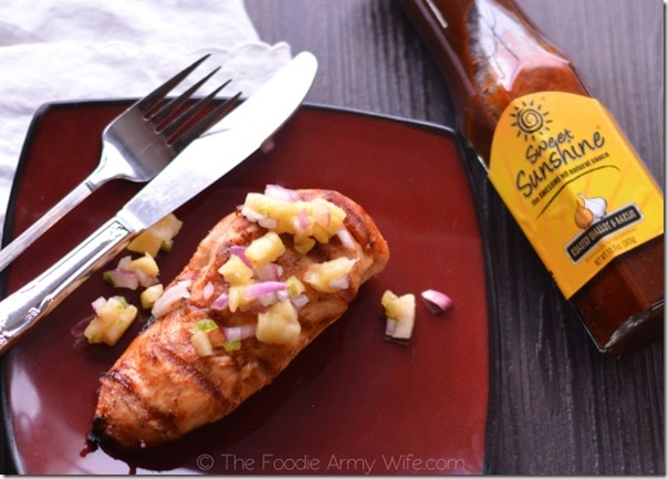Grilled Chicken with Pineapple Salsa 1