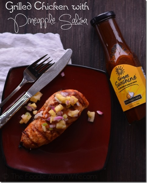 Grilled Chicken with Pineapple Salsa 2