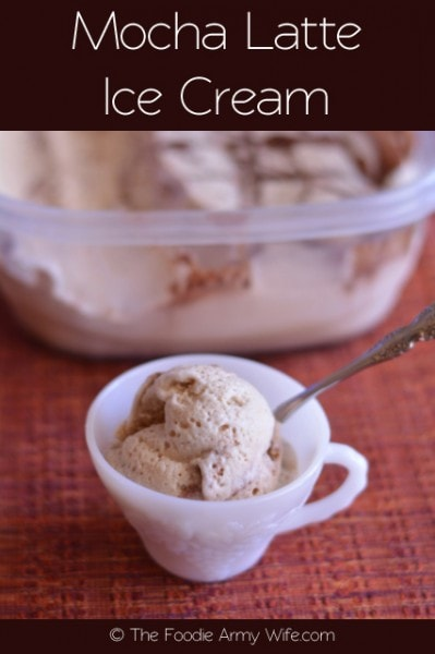 Mocha Latte Ice Cream from The Foodie Army Wife | Cosmopolitancornbread.com