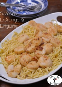 Scallops L'Orange with Linguine from The Foodie Army Wife