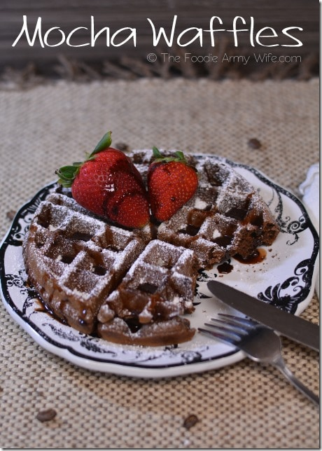 Delicious waffles infused with the flavor of coffee and chocolate. Mocha waffles are a delightful way to start your morning.