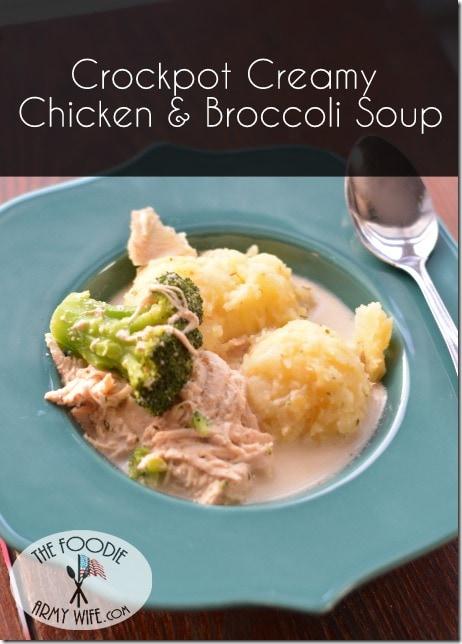 Crockpot Creamy Chicken Broccoli Soup 1