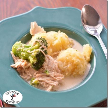 Crockpot Creamy Chicken Broccoli Soup square