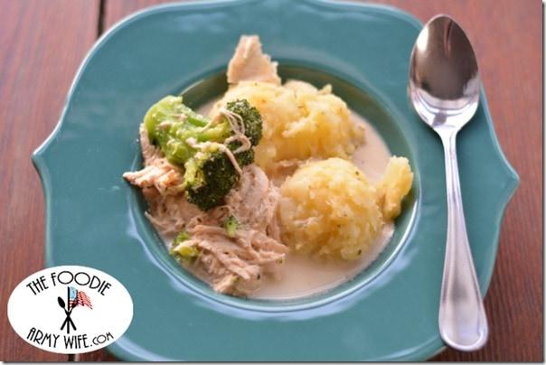 Crockpot Creamy Chicken Broccoli Soup