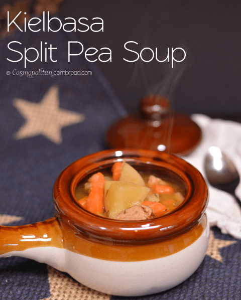 A big bowl of kielbasa split pea soup is the perfect way to end a busy day.