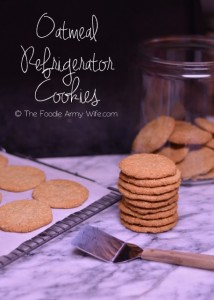 Oatmeal Refrigerator Cookies from The Foodie Army Wife