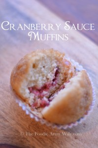 Cranberry Sauce Muffins from The Foodie Army Wife