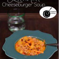 Lean Mean Cheeseburger Soup