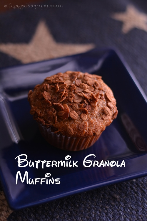 Buttermilk Granola Muffins from Cosmopolitan Cornbread