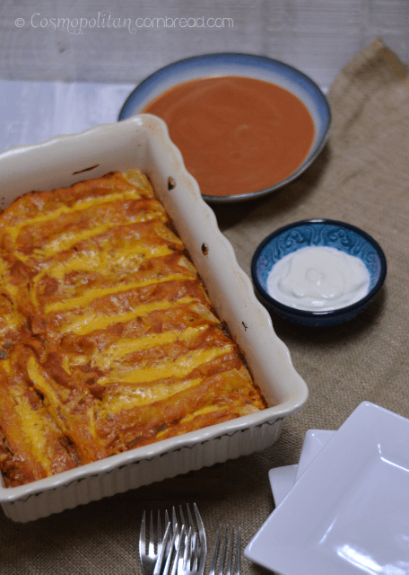 Beef and Bean Enchilada Bake from Cosmopolitan Cornbread 1