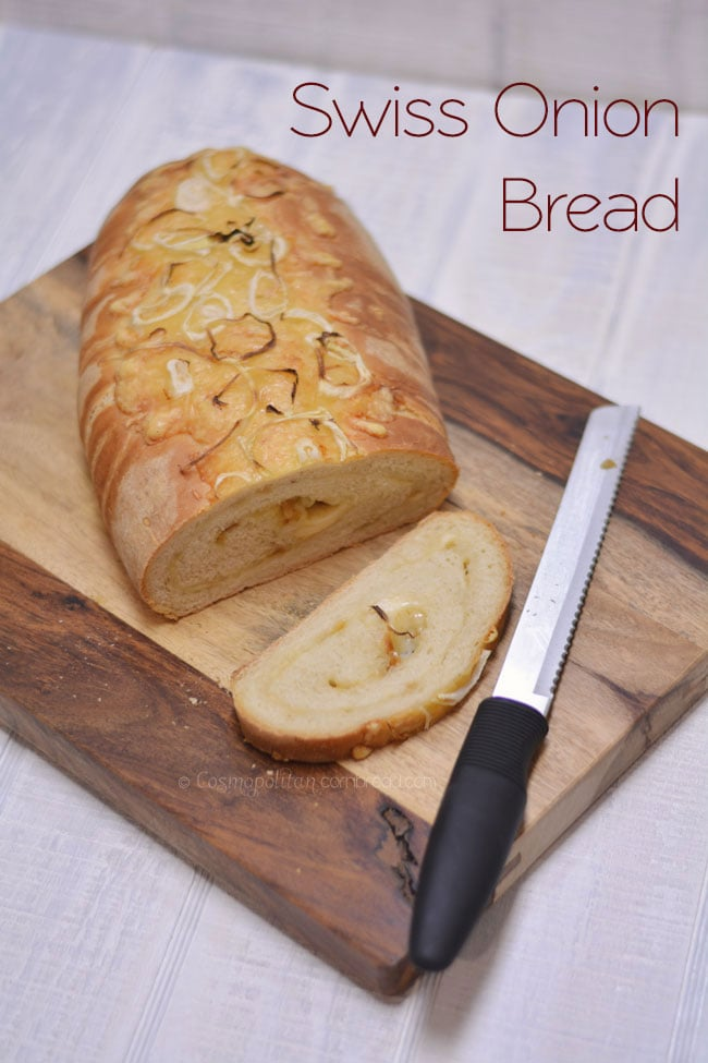 A Delicious recipe for Swiss Onion Bread from Cosmopolitan Cornbread