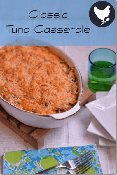 Homemade Tuna Casserole - a classic supper recipe from Cosmopolitan Cornbread
