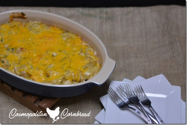 Chicken Tortilla Chip Casserole from Cosmopolitan Cornbread