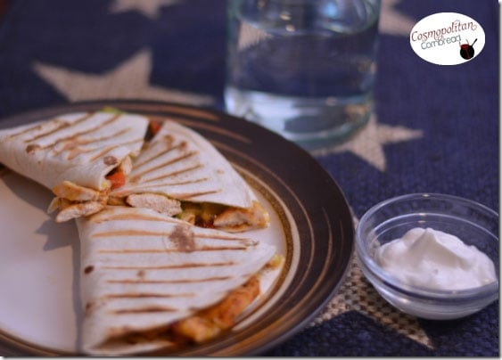 Fajita Quesadillas from Cosmopolitan Cornbread