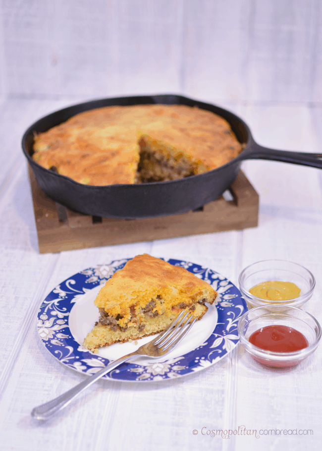 Bacon Cheeseburger Cornbread Skillet from Cosmopolitan Cornbread