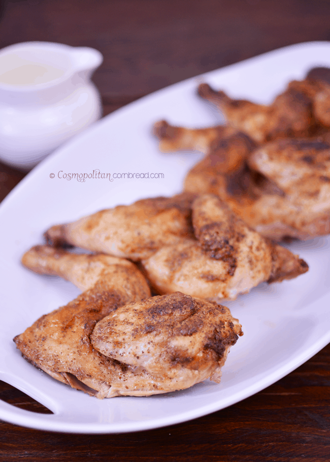 Le Coquelet a la Moutarde | Mustard Hens with Cream Gravy from Cosmopolitan Cornbread