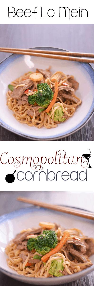 Homemade Beef Lo Mein from Cosmopolitan Cornbread