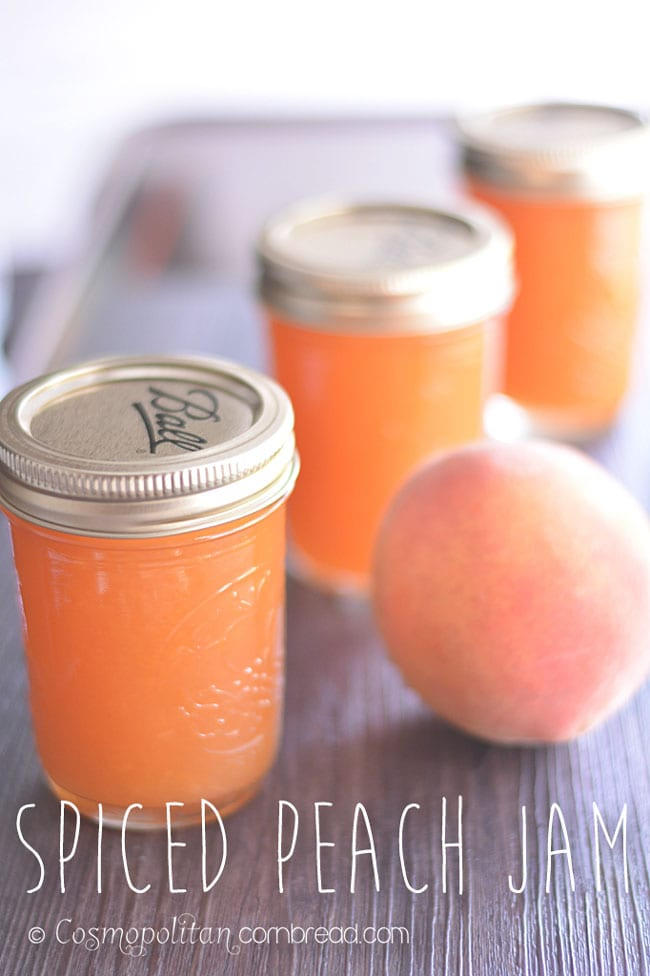 Preserve the Harvest with this Spiced Peach Jam and many more recipes from Cosmopolitan Cornbread