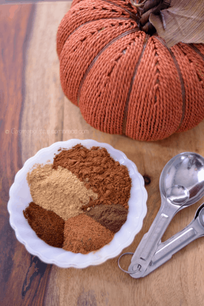 Homemade Pumpkin Pie Spice from Cosmopolitan Cornbread