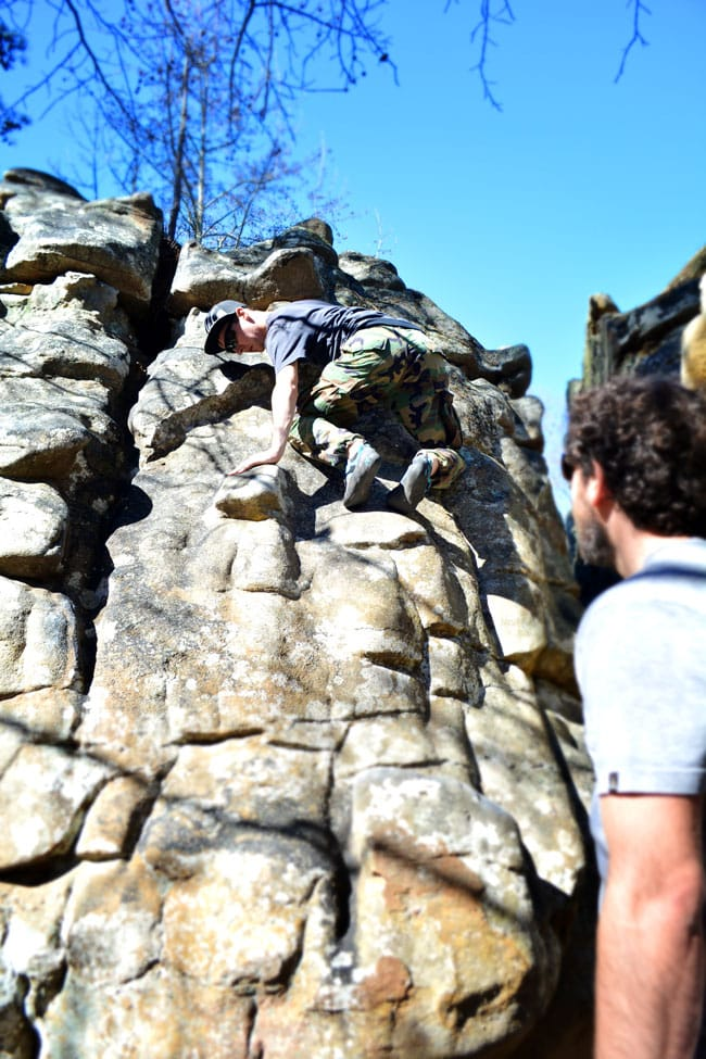 Bouldering at Horse Pens 40 in Steele, Alabama | Cosmopolitan Cornbread