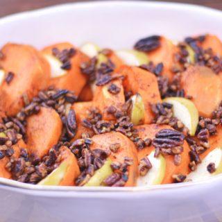 Bourbon Glazed Sweet Potatoes | Last Minute Holiday Menu Ideas