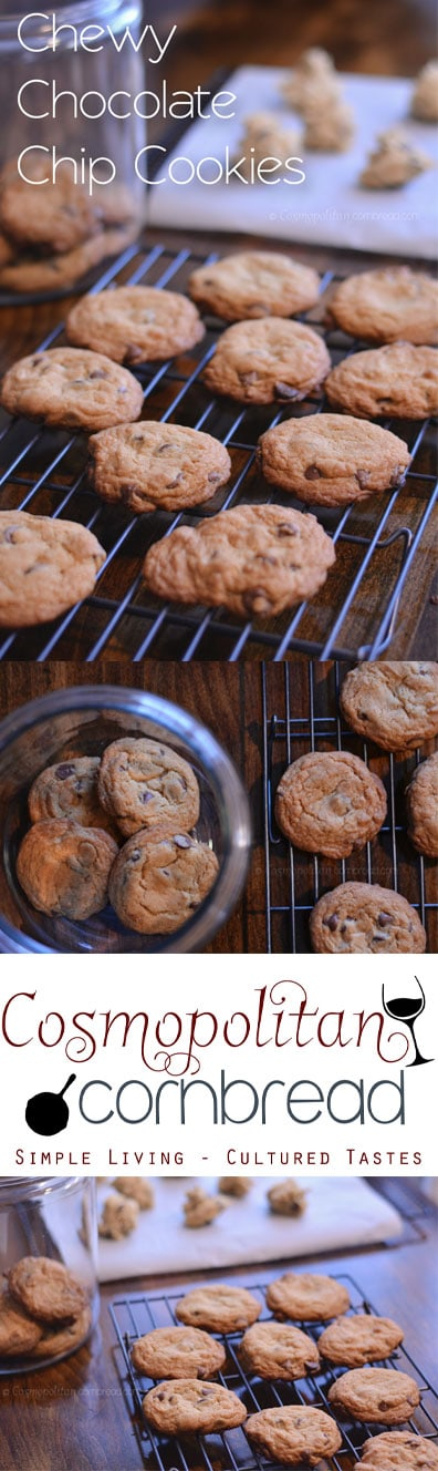Classic and always yummy - Chewy Chocolate Chip Cookies from Cosmopolitan Cornbread
