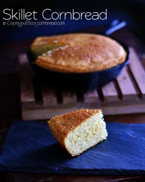 Good old-fashioned Skillet Cornbread - get the recipe from Cosmopolitan Cornbread