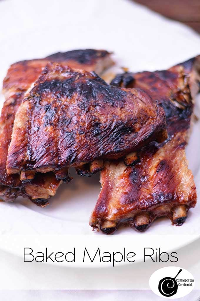 Baked Maple Ribs from Cosmopolitan Cornbread | An effortless dish and so delicious!