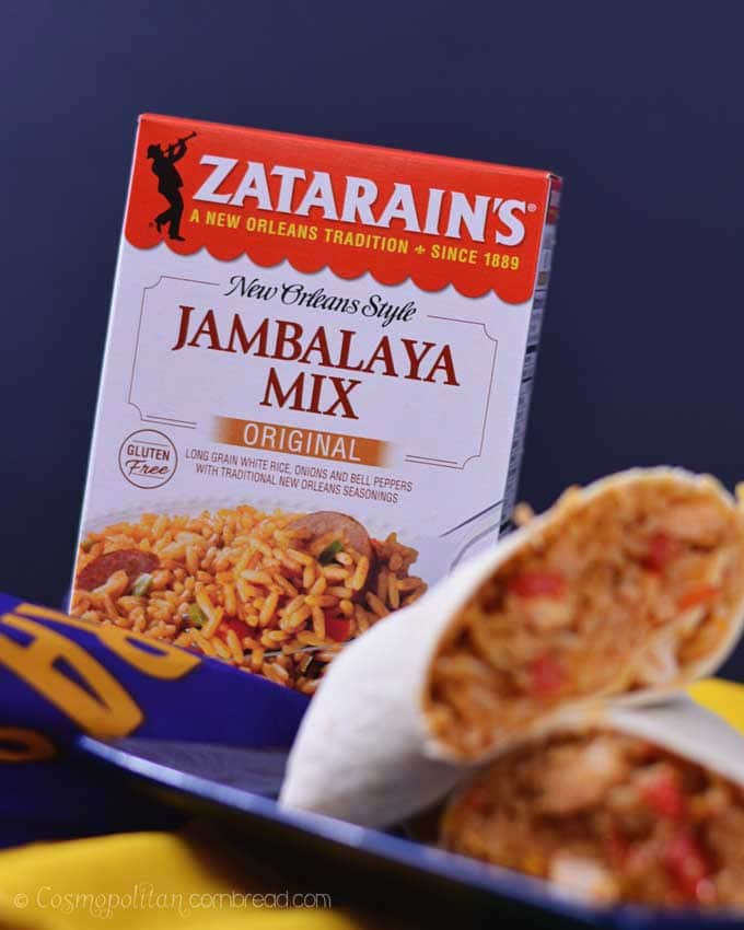 Chicken and Sausage Jamburritos from Cosmopolitan Cornbread