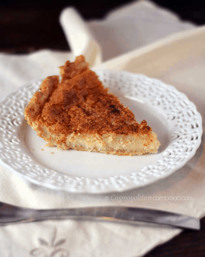 Sugar Cream Pie (Hoosier Pie) from Cosmopolitan Cornbread
