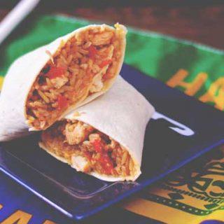 Chicken & Sausage Jamburritos   #SundaySupper