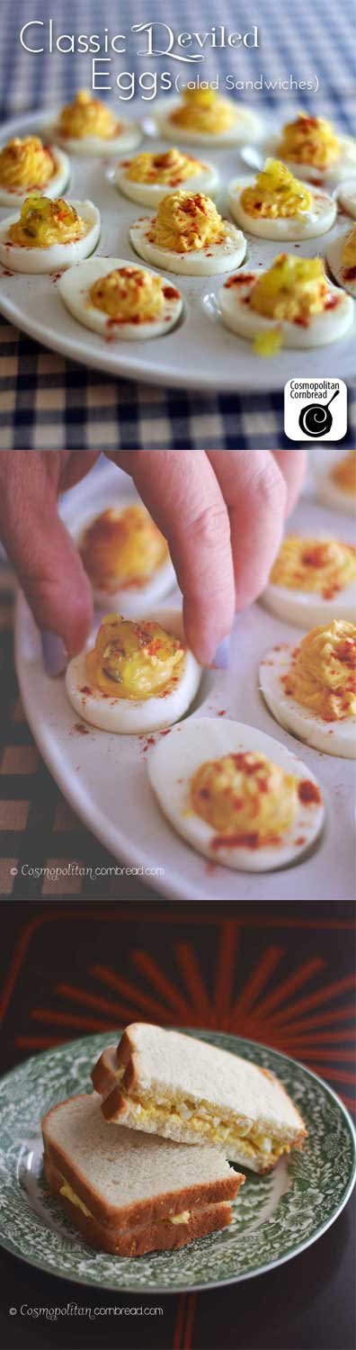 How to make Classic Deviled Eggs (and Egg Salad Sandwiches!) from Cosmopolitan Cornbread