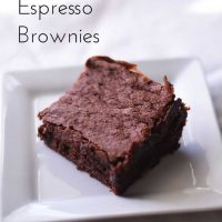 Deep Dark Espresso Brownies