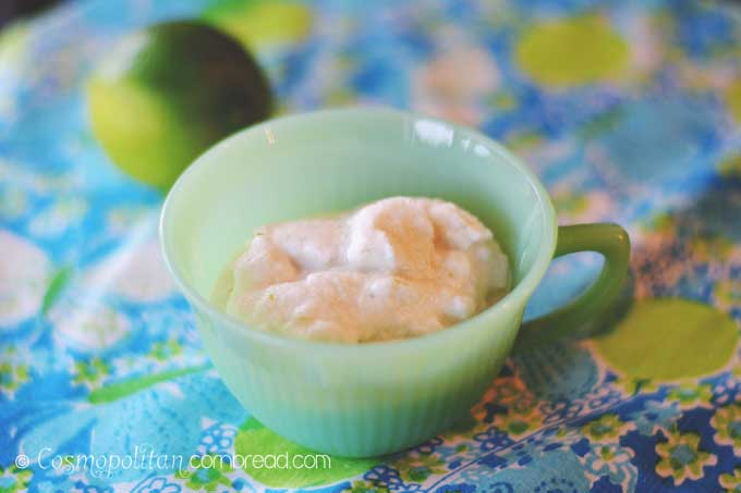 Coconut Lime Ice Cream is perfect for summer and even dairy-free! Get the recipe from Cosmopolitan Cornbread
