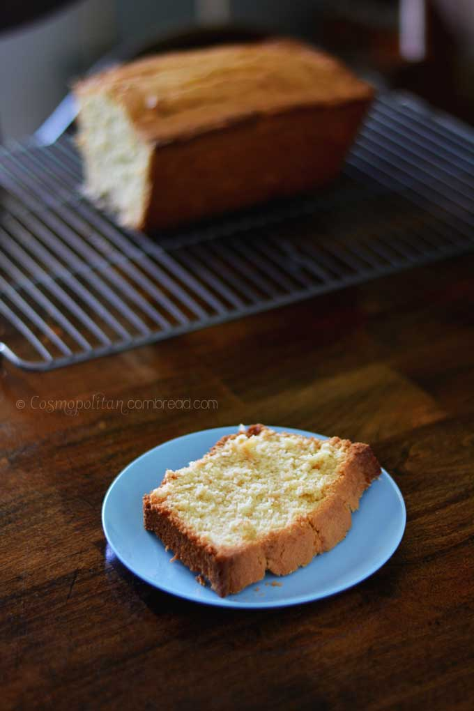 Coconut Pound Cake - Get the recipe for this delicious treat from Cosmopolitan Cornbread