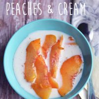 Rustic Peaches & Cream