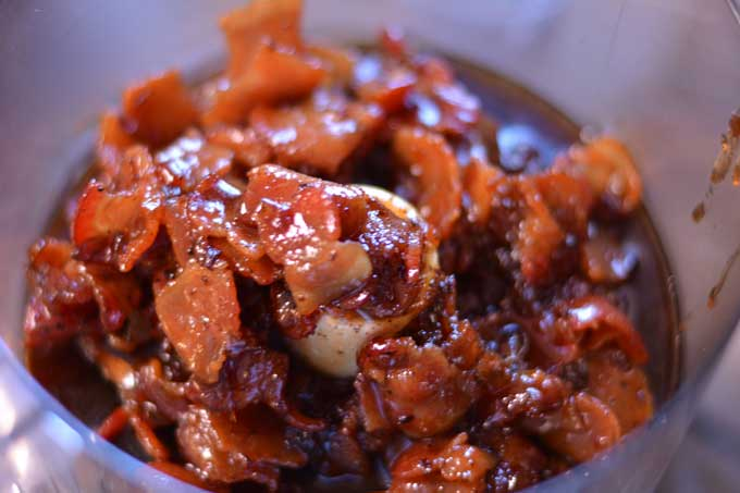 Bourbon Bacon Jam - this will make you swoon! Get the recipe from Cosmopolitan Cornbread