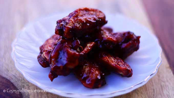These Blackberry Sriracha BBQ Wings from Cosmopolitan Cornbread will have you licking your fingers and dreaming about chicken wings! Get the recipe and make these today!