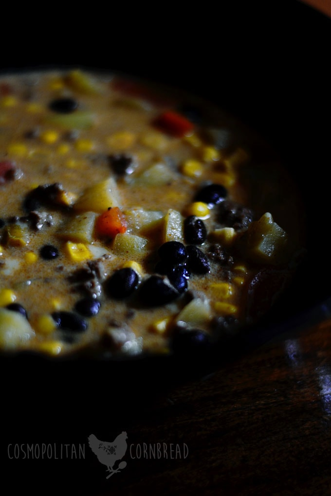 Tex-Mex Black Bean Chowder from Cosmopolitan Cornbread