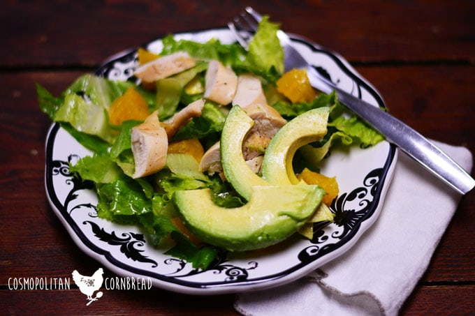 Tequila Chicken Salad is a healthy a delicious way to get your greens! Get the recipe from Cosmopolitan Cornbread