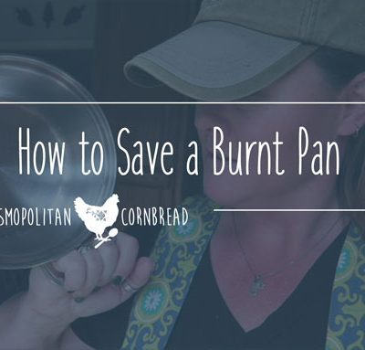 How to Save a Burnt Pan - See this easy trick from Cosmopolitan Cornbread